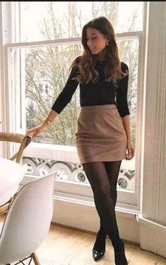 Business Casual Outfits For Women, Winter Outfits For Work, Casual Winter Outfits, Casual Summer, Winter Office Outfit, Classy Fall Outfits, Skirts For Winter, Casual Office Outfits Women, Autumn Outfits Women
