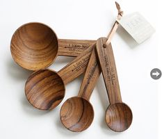 Dry mix delight -- I love these wood measuring spoons