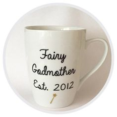Fairy Godmother Mug Disney Mug Pregnancy Announcement by MadAboutZ