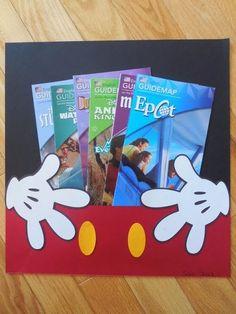Disney scrapbook page-- perfect for holding ephemera