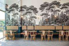 ideas for art deco hotel restaurant Art Deco Hotel, Design Bar Restaurant, Cafe Restaurant, Bar Design, Store Design, Commercial Design, Commercial Interiors, Cafe Bar, Decoration Shabby