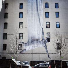 Mural by JR in New York.