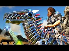awesome Ark Survival Evolved - BIONIC RAPTOR, QUETZ, PARA IN GAME, TEK WYVERN SADDLE + MORE -  Gameplay