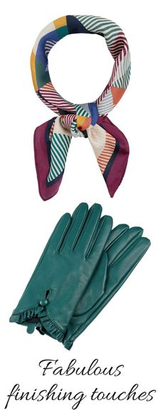How to be gorgeous and glamourous - add those extra beautiful accesories.  #1940s #1940sfashion #retrostyle #scarf #ad #leathergloves