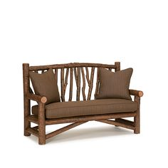 Rustic Bench #1538 (Shown in Natural Finish) by La Lune Collection