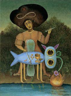 Collection Online | Victor Brauner. The Surrealist (Le surréaliste). January 1947 - Guggenheim Museum