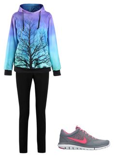 """""""relax"""" by crystal-clear-killer ❤ liked on Polyvore featuring Yves Saint Laurent and NIKE"""