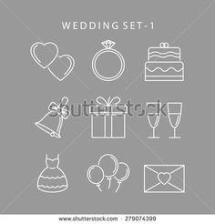 Wedding icons Fotografie, snímky a obrázky | Shutterstock
