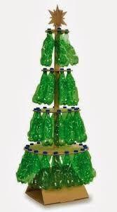 Bildergebnis für arbolitos de navidad reciclados