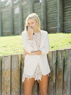 Zara White Blazer, Oasis White Dress