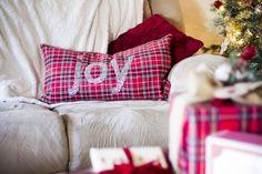 red plaid pillow | Christmas Presents from @Marshalls #projectfab #spon allGLAMMEDup