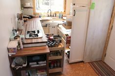 Gorgeous tiny home kitchen and incredible storage!!
