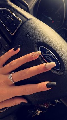 78 best nail colors designs for summer rose idea the best ideas for fashion 53 Aycrlic Nails, Cute Nails, Hair And Nails, Coffin Nails, Best Acrylic Nails, Summer Acrylic Nails, Best Nails, Colorful Nail Designs, Acrylic Nail Designs
