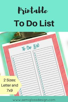 pretty to do list | printable to do list | printable | organizing | daily to do list | bullet journal to do list | planner to do list | free printable