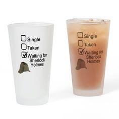 Waiting for Sherlock Drinking Glass by FandomRocks - CafePress Mysterious Things, Drinking Glass, Glass Design, Cold Drinks, Pint Glass, Sherlock, Vivid Colors, Waiting, Tumbler