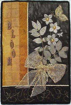 """""""Black and Gold Blooms"""" is 8.5″ wide by 12.5″"""