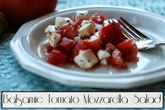 Balsamic Tomato Mozzarella Salad Recipe, Super Quick and Easy Side Salad. #Healthy #Recipe #Salad