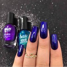 Gel Polish Manicure, Manicure And Pedicure, Gel Nails, Acrylic Nails, Rose Gold Nails, Blue Nails, Garra, Bright Summer Nails, Beautiful Nail Polish