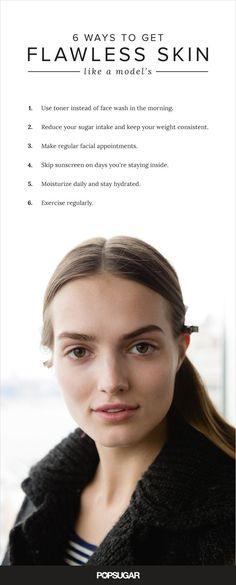 Model Skin Care Tips | POPSUGAR Beauty