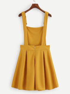 Shop Pleated Zip Up Back Pinafore Dress online. SheIn offers Pleated Zip Up Back. - - Shop Pleated Zip Up Back Pinafore Dress online. SheIn offers Pleated Zip Up Back Pinafore Dress & more to fit your fashionable needs. Source by Belted Shirt Dress, Tee Dress, Pinafore Dress Pattern, Pinafore Dress Outfit, Vetement Fashion, Mein Style, Overall Dress, Yellow Dress, Elegant Dresses