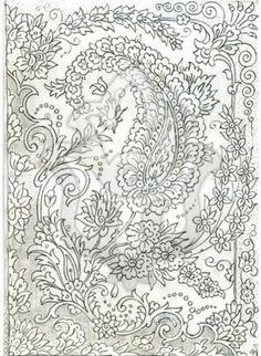 Henna Drawings, Zentangle Drawings, Art Drawings, Mural Painting, Mural Art, Texture Painting, William Morris Art, Clay Wall Art, Persian Motifs