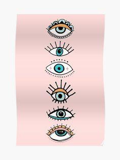 Eye Illustration Print Greeting Card by The Best Print Shop - Set of 3 Folded Cards x Eye Illustration, Illustrations, Canvas Art, Canvas Prints, Art Prints, Evil Eye Art, Buch Design, Eye Painting, Art Inspo
