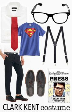 Clark Kent costume for Halloween                                                                                                                                                                                 More