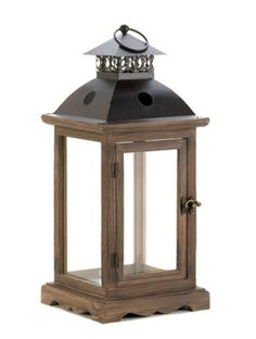 Large Rustic Wood Lantern - Kats Treasure Trove | Scott's Marketplace