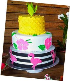 Bolo Fake Tema: festa tropical