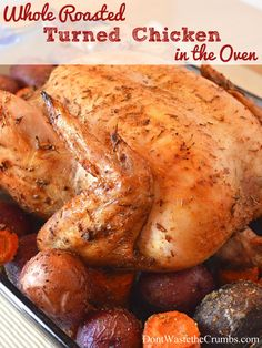 Whole Roasted Chicken in the Oven: This is absolutely the best, an easy idea to make a whole roasted chicken at home that comes out perfectly cooked, moist and delicious every single time! Baked, rotisserie or roasted.we have the dinner recipe for you! Whole Chicken In Oven, Whole Roast Chicken Recipe, Cooking Whole Chicken, Whole Roasted Chicken, Oven Chicken, Roast Chicken Recipes, Stuffed Whole Chicken, Rotisserie Chicken, Baked Whole Chicken Recipes