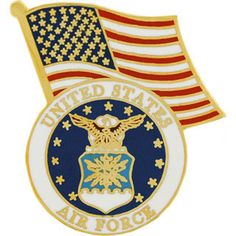 Jewel Tie 14k Yellow Gold United States Air Force Academy Lapel Pin 15mm x 15mm