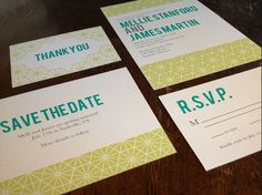 DIY Printable Geometric Wedding Invitation Suite by FiraPrintables