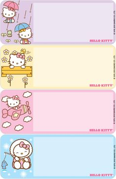 Mangilit Kinder 2 - School Of Saint Anthony Quezon City Book Labels, Printable Labels, Kids Labels, Free Printable, School Name Labels, Name Tag Templates, Hello Kitty Wallpaper, Cat Stickers, Note Paper