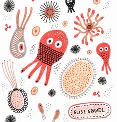 Sea creatures #illustration #doodleoftheday #sketchbook by elise_gravel