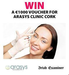 Win a €1000 voucher for Arasys Clinic Cork - http://www.competitions.ie/competition/win-e1000-voucher-arasys-clinic-cork/