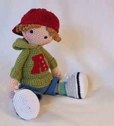 Crochet pattern for doll JOSH Deutsch English von CAROcreated