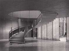 SAS House in Copenhagen, part of the Scandinavian Airlines System Hotel, was designed by Arne Jacobsen in 1960.