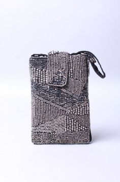 Durga Cell Phone Case in Silver from ShopAKIRA.com #ShopAKIRA #AkiraBlackLabel #handbeaded #intricate #durga #glassbeads #mosaic #cobalt #blue #wriststrap
