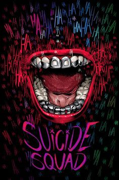"Brazilian artist Cristiano Siqueira is eager to see Jared Leto as the Joker in ""Suicide Squad,"" about a band of imprisoned DC Comics villains on a high-risk mission. So for his poster, he chose to focus on that character. Héros Dc Comics, Harey Quinn, Joker Y Harley Quinn, Plakat Design, Joker Wallpapers, Joker Art, Joker Joker, Batman Art, Alternative Movie Posters"