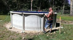 15ft round Trevi. Builds in less than half day. http://www.abovegroundpoolbuilder.com/above-ground-pools-massachusetts