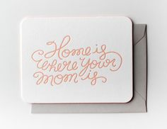 Need a cute Mother's Day card to thank your mom for all she does and tell her you love her? Check out these beautiful cards to send to Mom this Mother's Day that you can buy right now. Unique Gifts For Mom, Cute Gifts, Happy Mother Day Quotes, Happy Mothers, Mothers Day Cards, Paper Goods, Letterpress, Making Ideas, Favorite Quotes