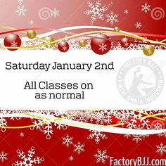 Just in case you wanted to kid yourself into thinking we might be closed tomorrow. All classes are on as normal and from here on out. Thanks to all who trained throughout Christmas from Factory and beyond looking forward to seeing the rest of you back in the next few days. #BJJ #FactoryBJJ #BJJinManchester