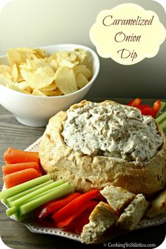 Caramelized Onion Dip Made Lighter - perfect for your next soiree | Cooking In Stilettos
