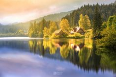 Hubertussee, Österreich Indian Summer, Beautiful Images, River, Mountains, World, Amazing, Places, Painting, Outdoor
