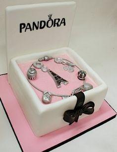 Pandora Cake (I want this CAKE!) but more cake/less fondant. Pretty Cakes, Cute Cakes, Beautiful Cakes, Amazing Cakes, Girly Cakes, Fancy Cakes, Unique Cakes, Creative Cakes, Fondant Cakes