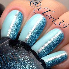 Glitter placement  - @Tori T