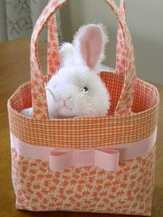 Fabric basket for Easter