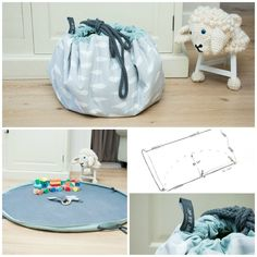 Play a Playmat / storage bag yourself and win tickets for KreaDoe (Jip by Jan) - Diy Fabric Basket Sewing For Kids, Diy For Kids, Lego Bag, Diy Bebe, Baby Couture, Baby Kind, Sewing For Beginners, Diy Toys, Fabric Decor