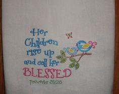 Christmas towel Bible verse flour sack kitchen tea by jessiemae