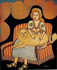 Girl with Angora Cat | by Morris Hirschfield